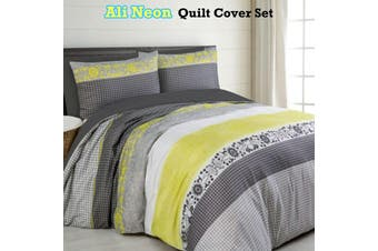 Ali Neon Quilt Cover Set KING
