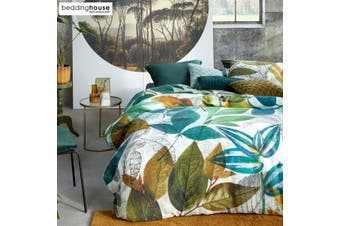 Amazonia Green Cotton Sateen Quilt Cover Set by Bedding House