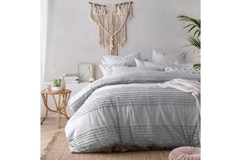 Betty Silver Quilt Cover Set Queen