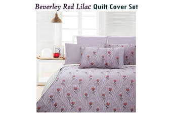 300TC Beverley Quilt Cover Set QUEEN by Accessorize