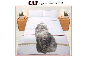 225TC Cat Quilt Cover Set Double by Bright Young Things