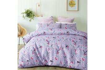 Cherry Blossom Quilted Quilt Cover Set King