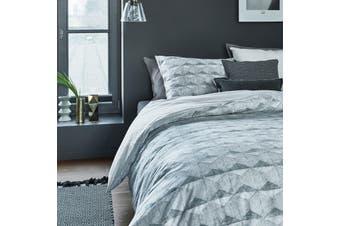 Concrete Tile Grey Quilt Cover Set King