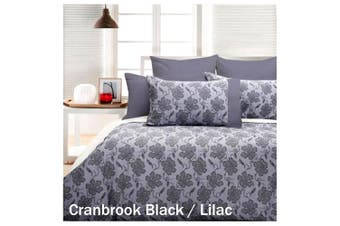 Cranbrook Lilac Quilt Cover Set Black KING by Accessorize