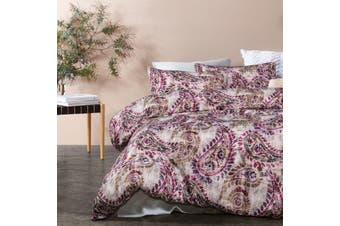 Duchess Turnable Taupe Quilt Cover Set Queen