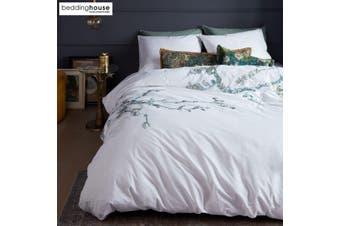 Van Gogh Embroidered Blossom White Cotton Quilt Cover Set by Bedding House