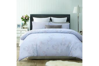 Fleur Blue Quilt Cover Set King