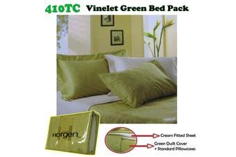 410TC Horgen Vinelet Green Bed Pack KING