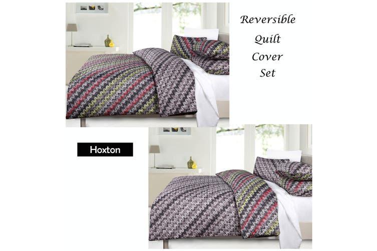 Hoxton Reversible Quilt Cover Set - Double
