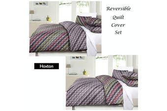 Hoxton Reversible Quilt Cover Set - Queen