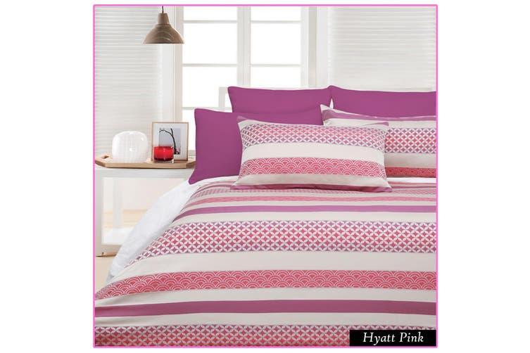 300TC Hyatt Pink Quilt Cover Set KING