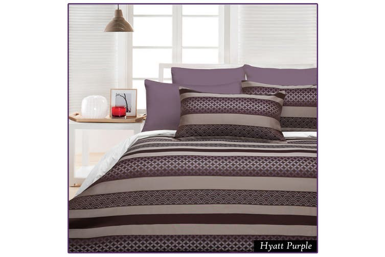 300TC Hyatt Purple Quilt Cover Set SINGLE