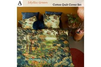 Idyllic Green Quilt Cover Set Queen