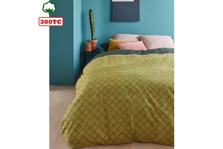 Lima Gold Quilt Cover Set Queen