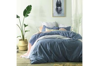 Stonewashed Linen Cotton Quilt Cover Set Double