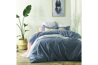 Stonewashed Linen Cotton Quilt Cover Set Queen