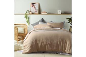 100% Linen Birch Quilt Cover Set Single