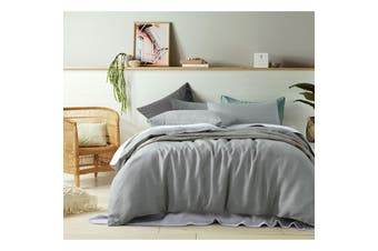 100% Linen Dove Grey Quilt Cover Set King