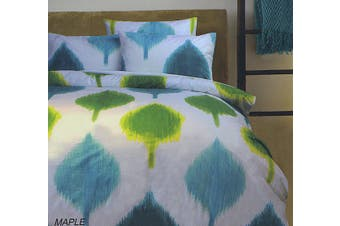 MAPLE Quilt Cover Set White DOUBLE
