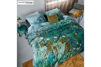 Madagascar Green Cotton Quilt Cover Set by Bedding House