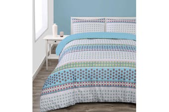 Mila Quilt Cover Set Queen by Big Sleep
