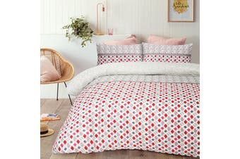 Pilar Red Quilt Cover Set King