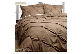 Puffy Quilt Cover Set Latte SINGLE