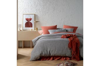 Sentosa Linen Quilt Cover Set Twilight Queen