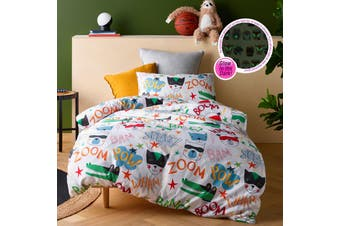 Superhero Quilt Cover Set Double