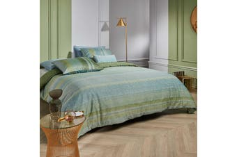 Tabby Green Quilt Cover Set King