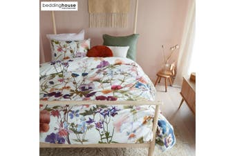 Violeta Multi Cotton Sateen Quilt Cover Set by Bedding House