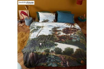 Voyage Green Cotton Quilt Cover Set by Bedding House