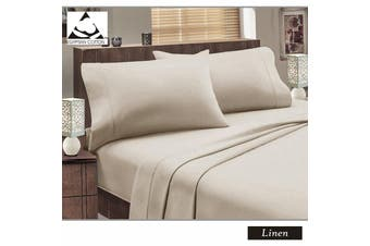 Flannelette Egyptian Cotton Sheet Set Linen DOUBLE