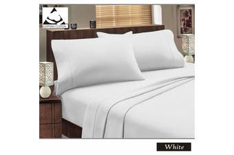 Flannelette Egyptian Cotton Sheet Set White DOUBLE