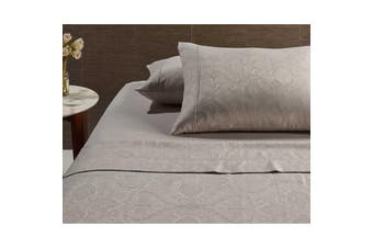 Hotel Jacquard Cotton Rich Sheet Set Natural Queen