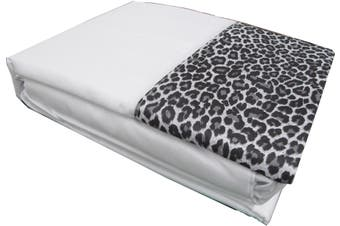 Leopard Sheet Set White SINGLE