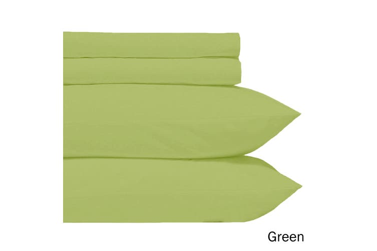 Microfiber Sheet Set Green King