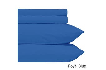 Microfiber Sheet Set Royal Blue Single