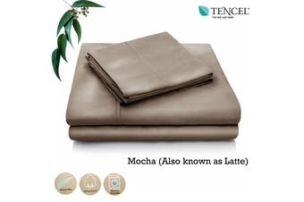 Tencel Cotton Blend Sheet Set Mocha (Also Known as Latte) Single by Accessorize
