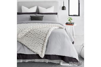 Acrylic Chunky Throw Rug Natural by Accessorize