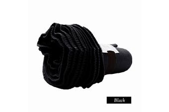 Double Ruffle Throw Black by Accessorize