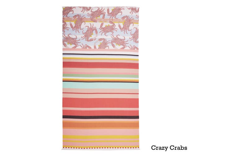Cotton Digital Print Large Towel Crazy Crabs by Oilily