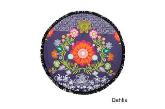 Round Summer Towel with Tassels Dahlia by Home Innovations