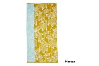 Pure Cotton Beach Towel Mimosa Yellow by Bedding House