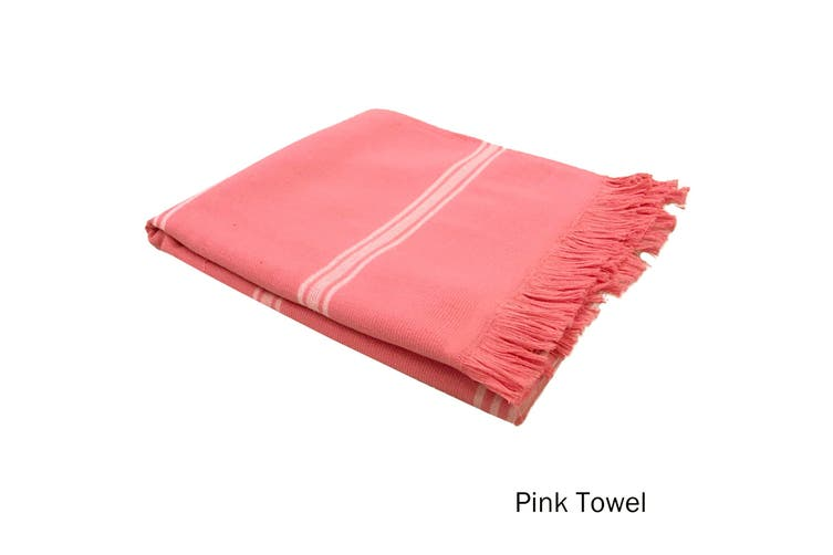 Cotton Terry Turkish Towel Pink by Home Innovations
