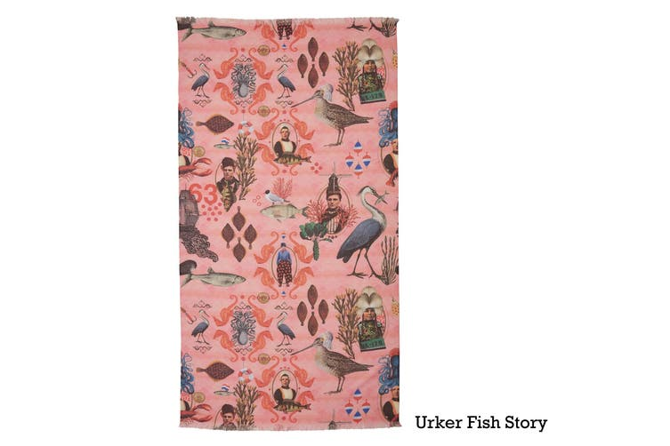Cotton Digital Print Large Towel Urker Fish Story by Oilily