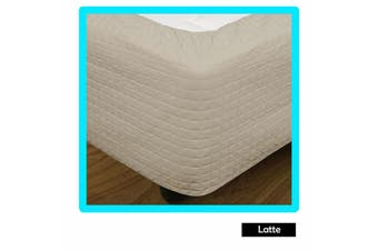 Quilted Bed Valance Wrap Latte - Single