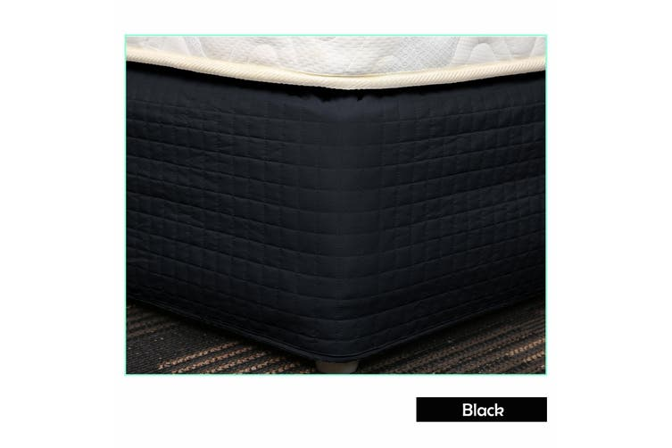 Easy Fit Quilted Valance Black - Double