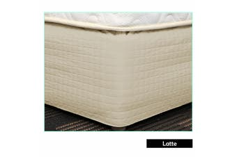 Easy Fit Quilted Valance Latte - King Single