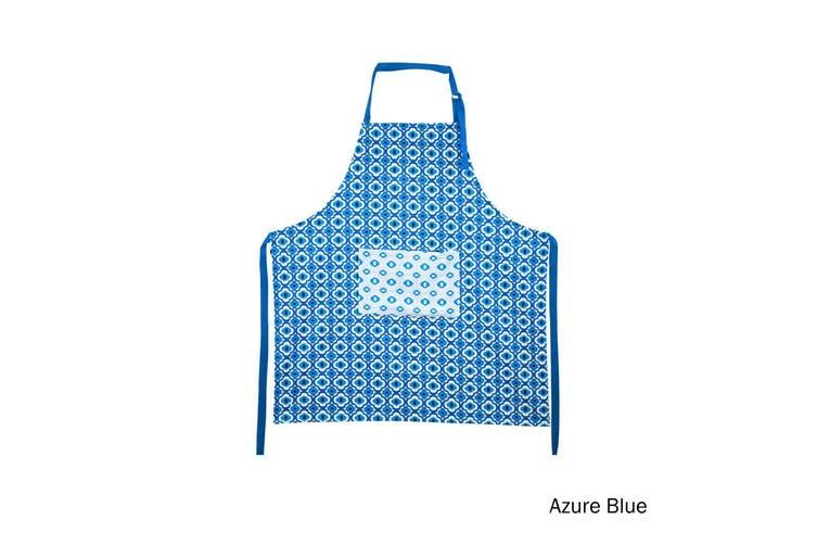 Cotton Apron Azure Blue by IDC Homewares